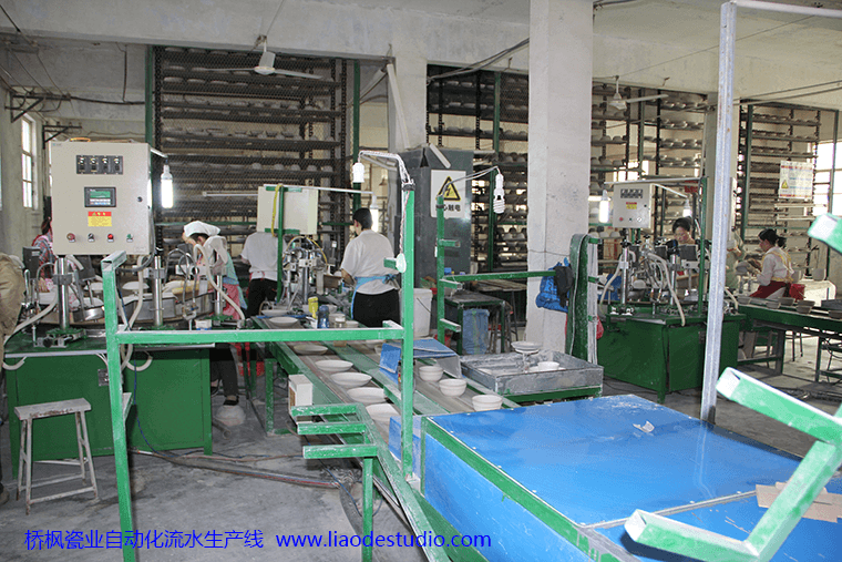 桥枫瓷业自动化流水生产线